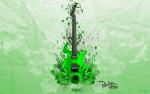 Green Guitar Pictures Music Wallpapers  20142