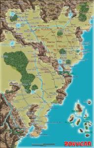 Rokugan Map - Detail